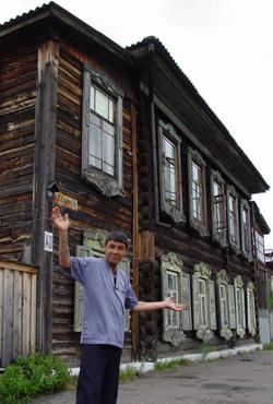 Jeniseisk mann og hus