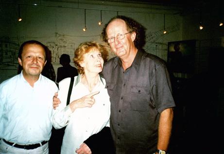 Med Vysotskijs første kone Izza. Til venstre Russlands fremste Vysotskijekspert og min gode venn professor Vladimir Novikov.
